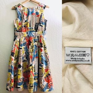 Emily and Fin ModCloth multicolored dress size XS